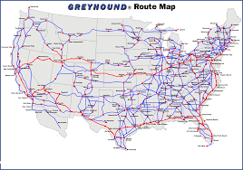 Map Of Us Labeled Greyhound Bus Usa Map My Blog