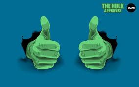 El primero del año -  Hulk face escultura