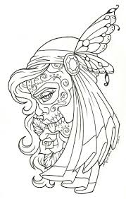 day of the dead coloring pages free kleurplaten pinterest