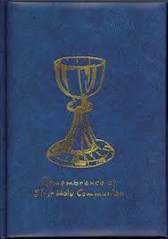 communion book personalised minature holy communion book dove
