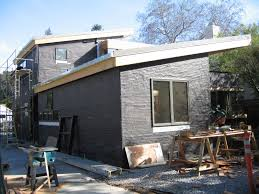 modern stucco homes with big yard also in contemporary style