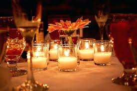 Vases With Flowers And Floating Candles Wedding Table Arrangements With Candles Table Centerpieces With