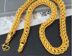 brand gold necklace images Msyo brand chinese dragon plated design for men new gold chain jpg