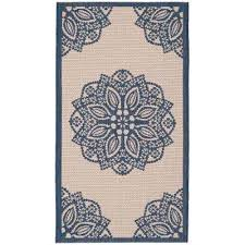 Safavieh Outdoor Rugs Safavieh 4 X 6 Blue Outdoor Rugs Rugs The Home Depot