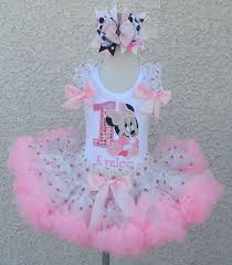 baby minnie mouse 1st birthday baby minnie mouse light pink ship pettiskirt set