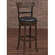 bar stool s american woodcrafters taranto 34 in washed brown swivel tall bar