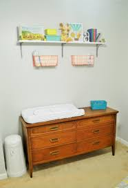 Changing Table Shelves by A Sweet Shelf And A Spot For Diapers Loving Here