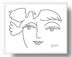 picasso print peace picasso poster picasso drawing