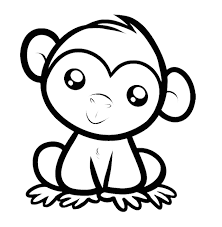 cute monkey coloring pages kids coloring pages monkey