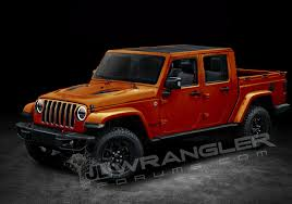 jeep hellcat truck jeep wrangler pickup truck rendered based on spyshots two door
