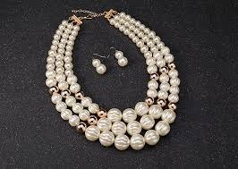 beads necklace sets images New arrival bridal wedding pearl jewelry sets multi layer beads jpg
