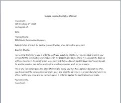 sample construction letter of intent u2013 smart letters