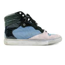 balenciaga blue green suede high top sneakers u2013 luxury resale network