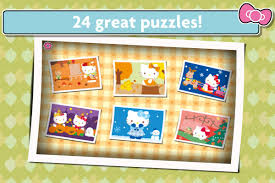 hello kitty jigsaw puzzles games for kids android apps on