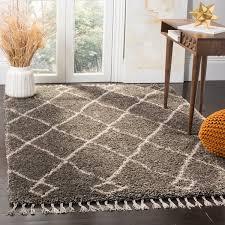 incredible safavieh moroccan fringe shag grey cream area rug 51 x 76 regarding grey and cream area rug jpg