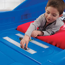 blue corvette bed step2 daily deal corvette toddler to bed with lights blue