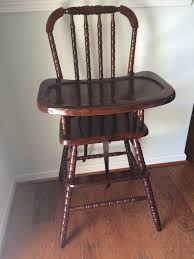 Swedish Wooden High Chair Antique Spool Bed Full Size Jenny Lind Style Www Rubylane Com