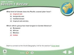 chapter 11 section world geography chapter 11 central america and
