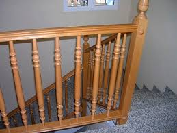 Indoor Banister Wooden Railing With Bars Indoor For Stairs M Point Point