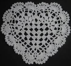 heart shaped doilies heart shaped doilies crochet patterns doily pattern ebay