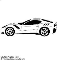 download ferrari outline vector graphic