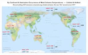 Continent World Map by C3 Global Extreme Climate Change From Co2 Official Wmo Continent