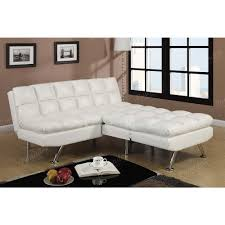 cream faux leather adjustable sofa with plush seating