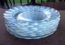 Glass Buffet Plates by Glass Luncheon Plates Ebay