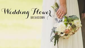 wedding flower wedding flower breakdown