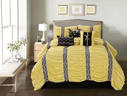 Black Comforter Sets King Size 7 Piece Harley Yellow Black Comforter Set