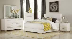 Gloss White Bedroom Furniture Homelegance Linnea Bedroom Set High Gloss White 1811 Bedroom Set