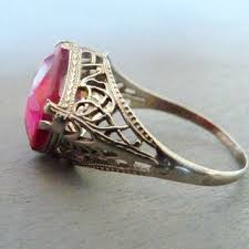 best art deco ruby ring products on wanelo