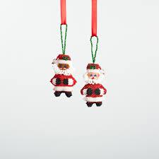 beaded fair trade guatemalan ornament santa