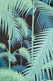 palm jungle wallpaper contemporary illustrated palm tree design