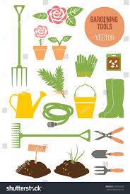 isolated spring gardening tools set vector stock vector 270503228