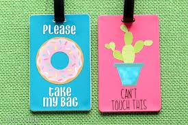 diy luggage tags that talk lydi out loud