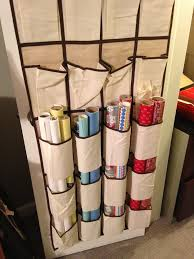 christmas wrapping paper holder make easier with this storage hacks shoes