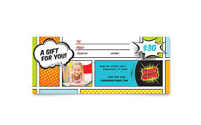 gift cards for kids kids club gift certificate template design