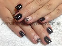 gel nails nails black nails konad stamping nail art