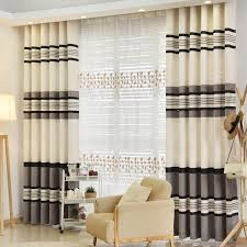 Thermal Energy Curtains Striped Thermal Energy Saving Soundproof Curtains