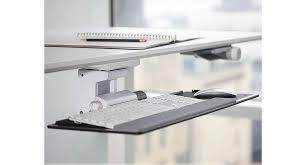 Office Desk With Keyboard Tray Humanscale Float Keyboard Tray Shop Humanscale Keyboard Tray Systems