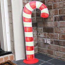 Candy Cane Outdoor Decorations Metal Pathway Markers Yard Décor Ebay