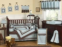 amazon com sweet jojo designs designer blue and brown hotel