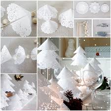White Paper Christmas Decorations To Make by Diy Paper Doily Christmas Tree Tutorial
