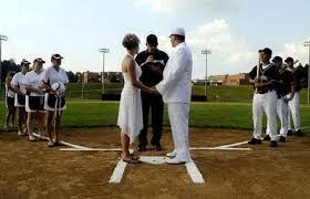 baseball themed wedding baseball fans a baseball theme wedding larry