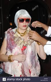 lady gaga halloween costumes lady gaga meat dress stock photos u0026 lady gaga meat dress stock