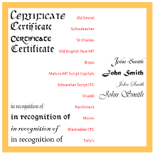 choose these traditional fonts for your certificates