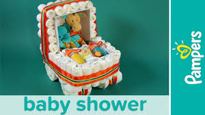 how to make a stroller diaper cake pampers baby shower ideas
