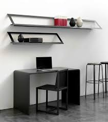 Black Wall Bookshelf Storage Awesome Small Spaces Modern Wall Mounted Drop Leaf Table