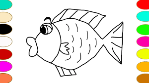 how to draw fish and color fish coloring pages learn colors games